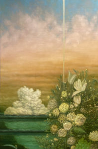 Falcon Heavy launch with Margareta Haverman's Vase of Flowers